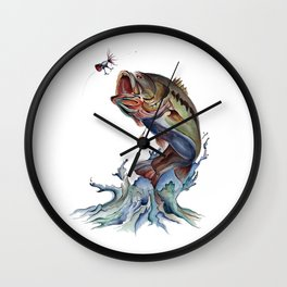 Bass Fish Wall Clock