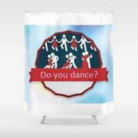dancing Shower Curtains featuring Dancing by Pavlo Tereshin