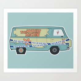 Busted: Mystery Machine Art Print