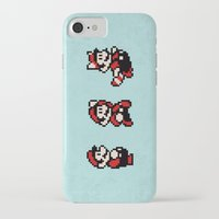 mario bros iPhone & iPod Cases featuring Super Mario Bros 3 by Brandon Riesgo