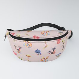 Mushrooms on pink Fanny Pack