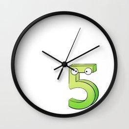 Five! Wall Clock