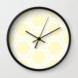 Lemon chiffon - pink - Geometric Polygon Pattern Wall Clock