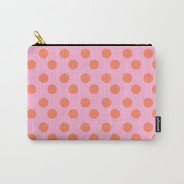 pink and orange polkadots Carry-All Pouch