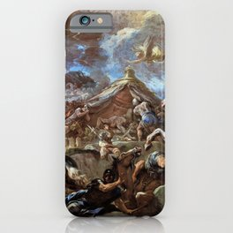 Luca Giordano - The Discovery Of The Body Of Holofernes - Digital Remastered Edition iPhone Case