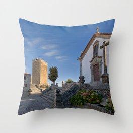 Linhares castle, Portugal Throw Pillow
