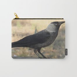 Side View Of A Wild Jackdaw Carry-All Pouch