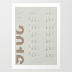 2016 Calendar   Earth Art Print