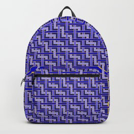 Blue and Gold Zig Zag Weave Backpack