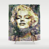 marilyn Shower Curtains featuring MARILYN by Vonis