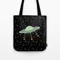 ufo Tote Bags featuring UFO by Mr and Mrs Quirynen