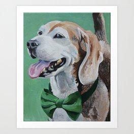 Beagle in a Bow Tie Art Print