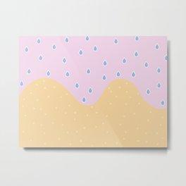 Beach rain Metal Print