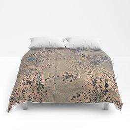 Mojave Desert bird's eye view Comforters