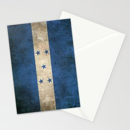 Old and Worn Distressed Vintage Flag of Honduras Stationery Cards