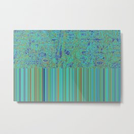 Abstract in Turquoise Metal Print
