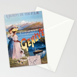 Old Sign / Geneve Affiche - Paris Stationery Cards