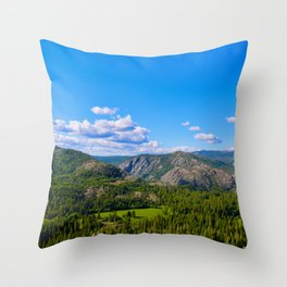 Clouds Floating Over Donner Pass Throw Pillow