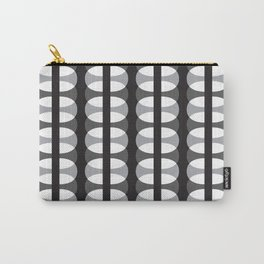 Geometric Pattern #186 (gray ovals) Carry-All Pouch