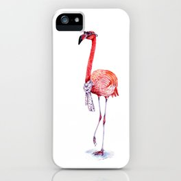 Fashionable  Pink Flamingo iPhone Case