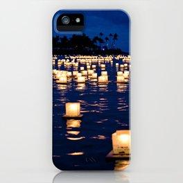 floating lanterns iPhone Case