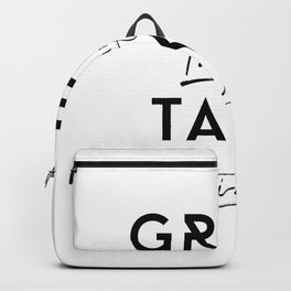 Great things take time Backpack