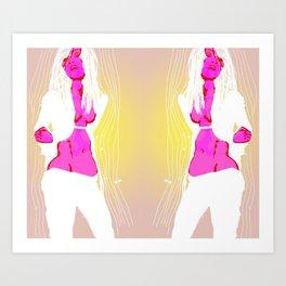 Slouch un Art Print