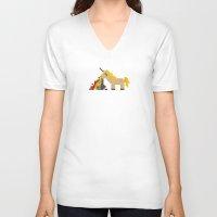 unicorn V-neck T-shirts featuring unicorn by MariMari