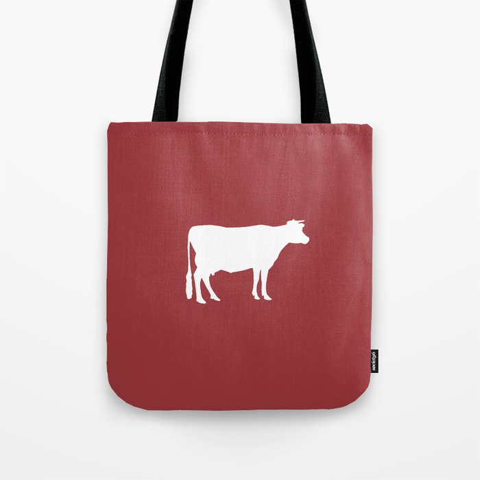 Cow: Barn Red Tote Bag