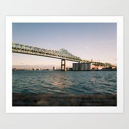 Boston's Tobin Bridge Art Print