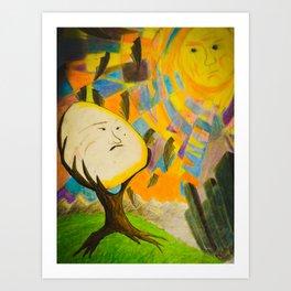 sunny unside Art Print