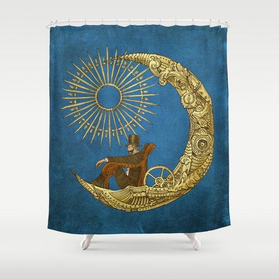 Moon Travel (Colour Option) Shower Curtain