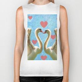 Swans in Love Biker Tank