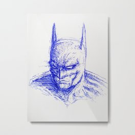 The Bat-Man Metal Print