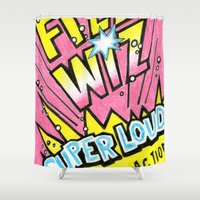 wiz khalifa Shower Curtains featuring Fizz Wiz! by Love Paint UK