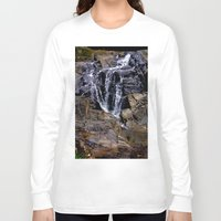 puerto rico Long Sleeve T-shirts featuring Diego's Salcedo Waterfall Puerto Rico by Ricardo Patino