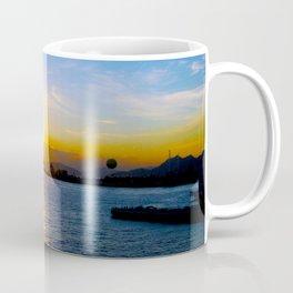 Sunset in Star Ferry Pier, Hong Kong Coffee Mug
