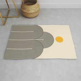 Abstraction_NEW_SUN_LINE_POP_ART_Minimalism_033BS Rug