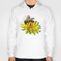 bees Hoodies featuring Bees by Moody Muse