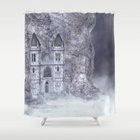 castle Shower Curtains featuring Castle by Simone Gatterwe