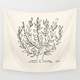 Exhibition poster Henri Matisse-Le buisson-1951. Wall Tapestry