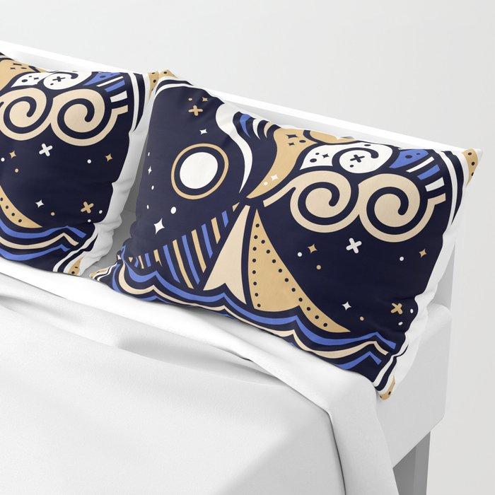 La Vita è Bella – Mediterranean Volcano in Tan Blue Palette Pillow Sham