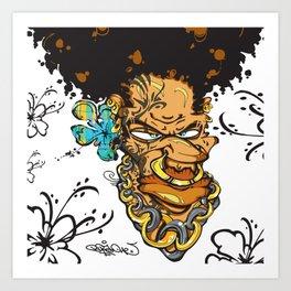 Momand'loup Art Print