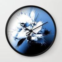angel wings Wall Clocks featuring Angel Wings by Brian Raggatt