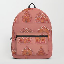 Gingerbread house pattern Backpack