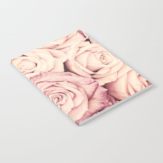 Some people grumble I Floral rose pattern pink Notebook