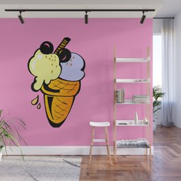 Hunger on ice cream Wall Mural