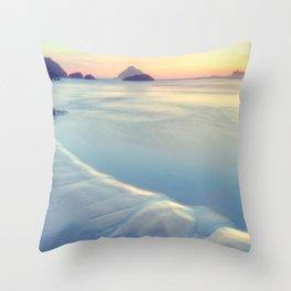 Faded Ocean Throw Pillow