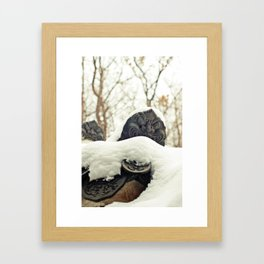 Winter Changdeokgung palace, Seoul, Korea Framed Art Print