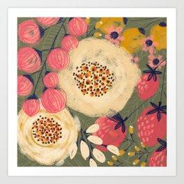 Green Berries Art Print